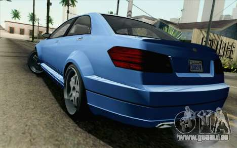 GTA 5 Benefactor Schafter für GTA San Andreas linke Ansicht