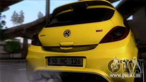 Opel Corsa OPC für GTA San Andreas Rückansicht