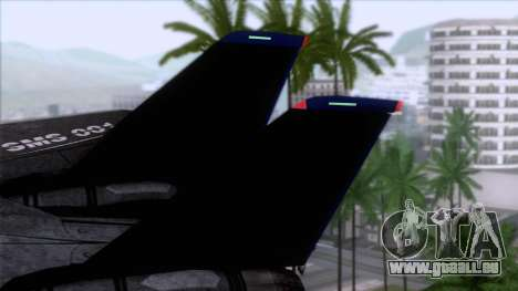 F-14 Neon Blue Macross Frontier für GTA San Andreas zurück linke Ansicht
