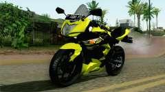 Kawasaki Ninja 250RR Mono Yellow pour GTA San Andreas
