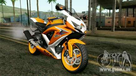 Suzuki GSX-R 600 2015 Orange pour GTA San Andreas