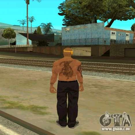 Macheter Vagos pour GTA San Andreas quatrième écran