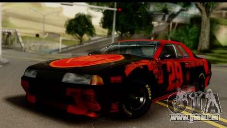 Elegy NASCAR pour GTA San Andreas laissé vue