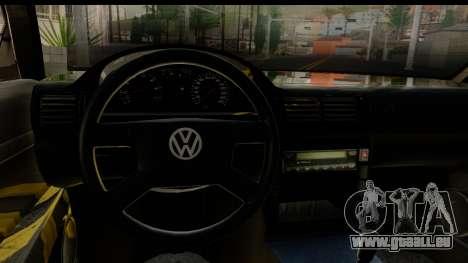 Volkswagen Passat B5 pour GTA San Andreas vue intérieure