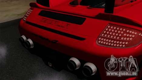 Gemballa Mirage GT v3 Windows Up für GTA San Andreas Rückansicht