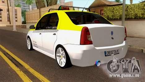 Dacia Logan Taxi für GTA San Andreas linke Ansicht