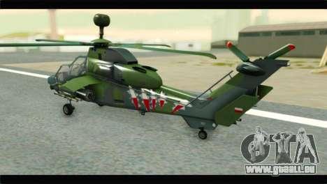 Eurocopter Tiger Polish Air Force pour GTA San Andreas laissé vue