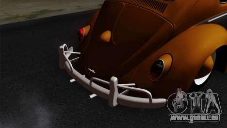 Volkswagen Beetle 1969 für GTA San Andreas Rückansicht