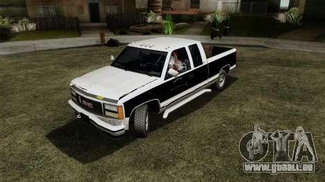 GMC Sierra 2500 1992 Extended Cab Final für GTA San Andreas Rückansicht