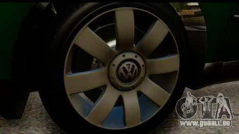 Volkswagen Passat B5 pour GTA San Andreas vue arrière