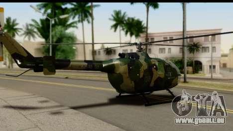 MBB Bo-105 Army für GTA San Andreas linke Ansicht