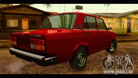 VAZ 21074 pour GTA San Andreas laissé vue