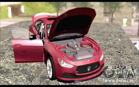 Maserati Ghibli 2014 für GTA San Andreas rechten Ansicht
