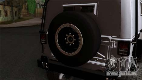 Jeep Wrangler 2013 Fast & Furious Edition für GTA San Andreas Rückansicht