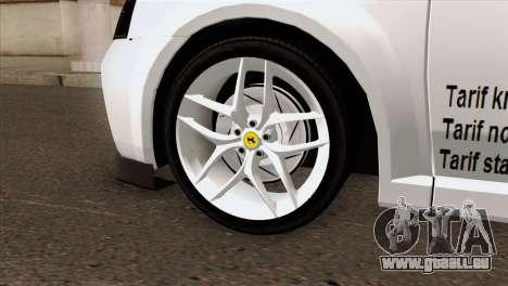 Dacia Logan Taxi pour GTA San Andreas sur la vue arrière gauche