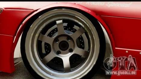 Nissan Silvia S13 Rocket Bunny für GTA San Andreas Rückansicht