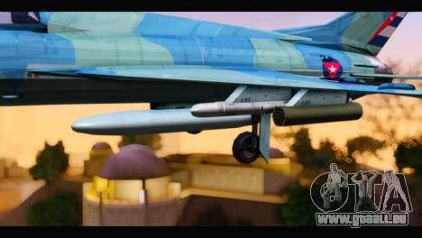 MIG-21MF Cuban Revolutionary Air Force pour GTA San Andreas vue de droite