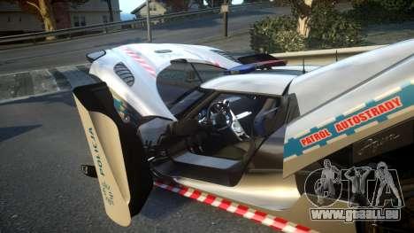 Koenigsegg Agera Polish Highway Patrol Police pour GTA 4 vue de dessus