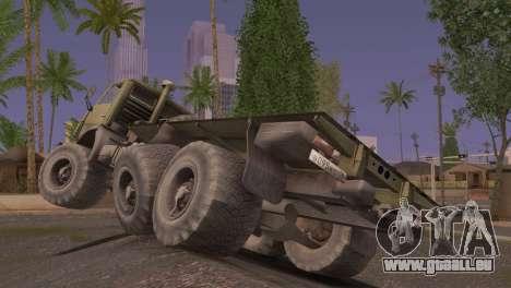 KamAZ 43101 für GTA San Andreas zurück linke Ansicht