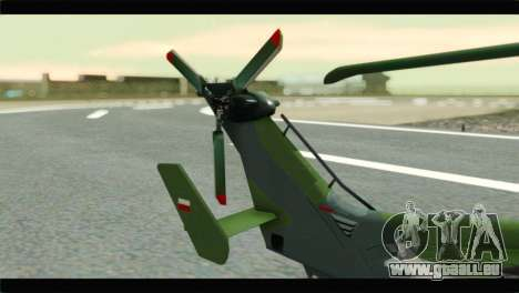 Eurocopter Tiger Polish Air Force für GTA San Andreas zurück linke Ansicht