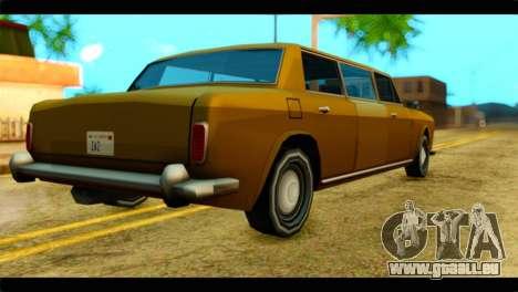 Stafford Limousine pour GTA San Andreas laissé vue