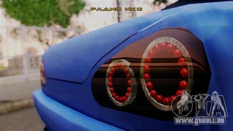 Elegy Full Customizing pour GTA San Andreas sur la vue arrière gauche