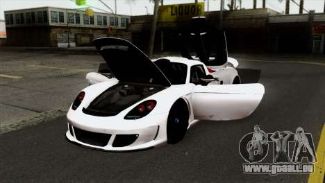 Gemballa Mirage GT v2 Windows Up für GTA San Andreas Rückansicht