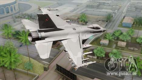 F-16C Jastrzab pour GTA San Andreas laissé vue