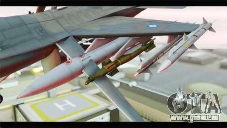 F-16C Hellenic Air Force für GTA San Andreas rechten Ansicht