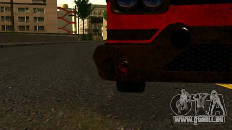 GTA 5 Declasse Tornado Worn IVF für GTA San Andreas Rückansicht