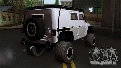 Jeep Wrangler 2013 Fast & Furious Edition für GTA San Andreas linke Ansicht