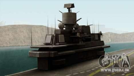 Admiral Kuznetsov Class für GTA San Andreas Rückansicht