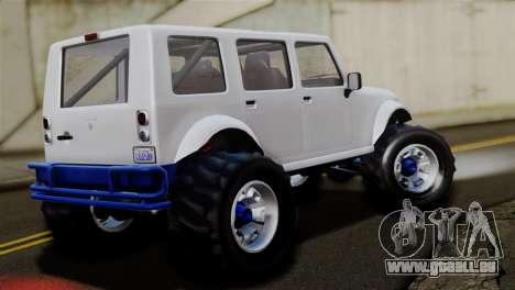 GTA 5 Canis Mesa Merryweather pour GTA San Andreas sur la vue arrière gauche