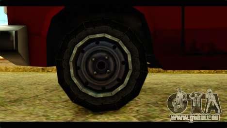 Bobcat Technical Pickup pour GTA San Andreas sur la vue arrière gauche