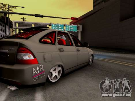 ВАЗ 2172 (Lada Priora) pour GTA San Andreas sur la vue arrière gauche