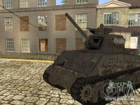 Tank M4 Sherman pour GTA San Andreas