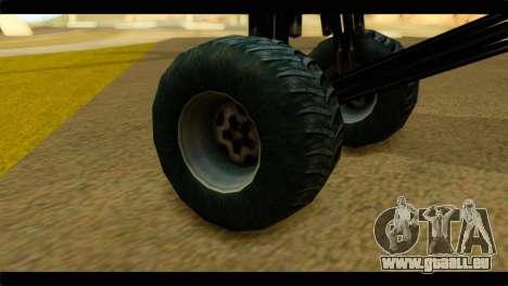 Monster Regina pour GTA San Andreas sur la vue arrière gauche