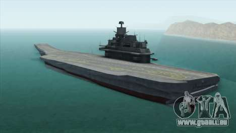 Admiral Kuznetsov Class für GTA San Andreas linke Ansicht