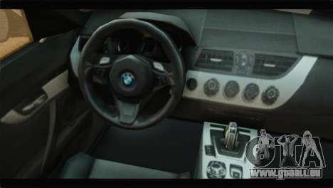 BMW Z4 sDrive35is 2011 pour GTA San Andreas vue de droite