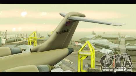 GTA 5 Buckingham Miljet Update pour GTA San Andreas sur la vue arrière gauche