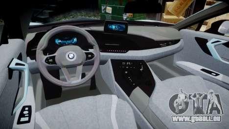 BMW i8 2013 pour GTA 4 est une vue de l'intérieur
