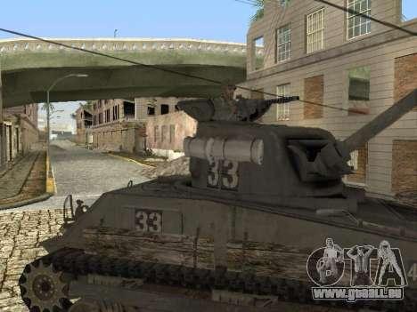 Tank M4 Sherman pour GTA San Andreas laissé vue