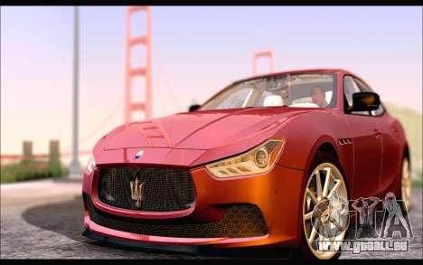 Maserati Ghibli 2014 für GTA San Andreas