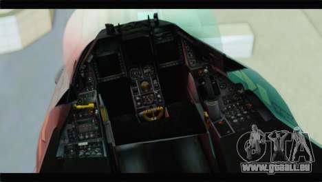 F-16C Hellenic Air Force für GTA San Andreas Rückansicht