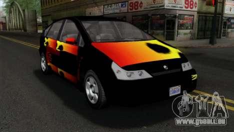 GTA 5 Karin Dilettante pour GTA San Andreas vue arrière