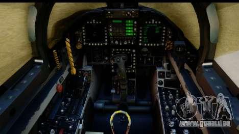 FA-18D VFA-103 Jolly Rogers für GTA San Andreas Rückansicht