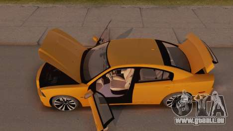 Dodge Charger SRT8 2012 Stock Version pour GTA San Andreas vue intérieure