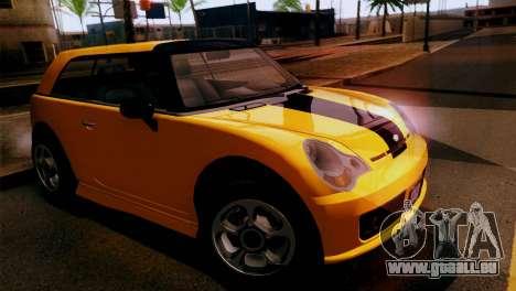GTA 5 Weeny Issi pour GTA San Andreas sur la vue arrière gauche