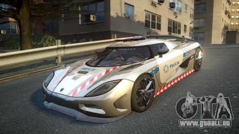 Koenigsegg Agera Polish Highway Patrol Police pour GTA 4