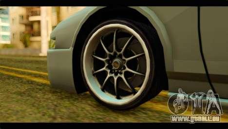 Infernus Rapide S pour GTA San Andreas sur la vue arrière gauche